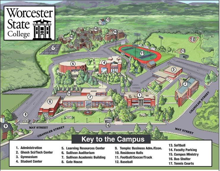 Worcester State College map